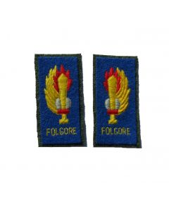 RIT18.Italian WW2 FOLGORE Enlisted ranks collar tabs