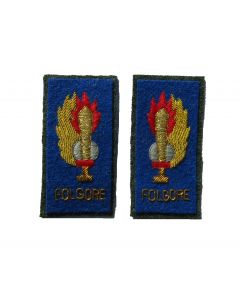 RIT19.Italian WW2 FOLGORE officer ranks collar tabs