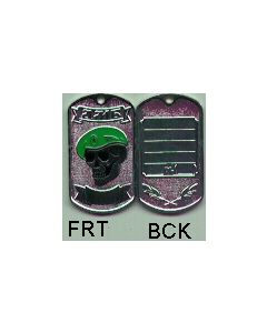 Border Guard With Skull And Green Beret