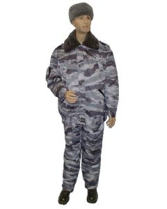 Russian Blue Tiger Pattern Camouflage Winter Sets With Removable  winter Lining