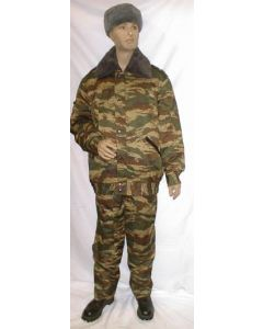 Russian Green Tiger Pattern Camouflage Winter Sets With Removable  winter Lining
