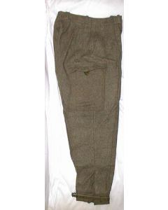 Swedish Wool Pants With Ankle Strap