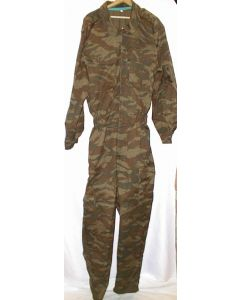 Serbian Green Tiger Stripe Camouflage Summer Weight Jumpsuit