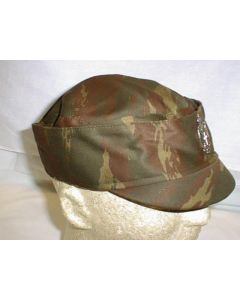 Serbian Camouflage Cap With Cap Badge