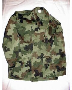 Yugoslav 5 Pocket Camouflage Jacket With 2 Upper Vertical Zipper Pockets