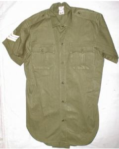 Rhodesian Green Shirt With Rank Stripes On Sleeve