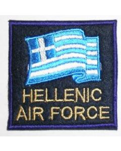 Greek Air Force Flag Sleeve Patch In English For Forign Missions