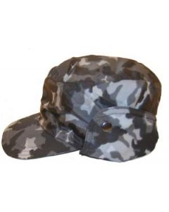 Russian MVD Blue Urban    Camouflage Winter Caps