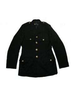 Black Naval Tunics With Gold Anchor Buttons