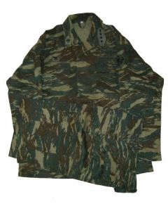 Greek Army Tiger Stripe Camouflage Uniforms