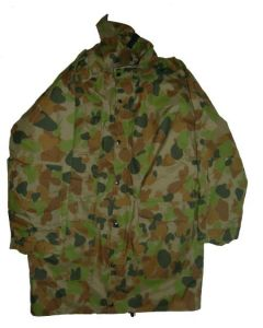 Australian Nylon Camouflage Parka With Liner In Issue Bag