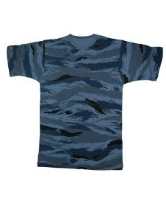 Russian Blue Tiger Stripe    T-Shirts
