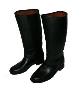 Smooth Shiney Leather Parade Boots With Leather Sole