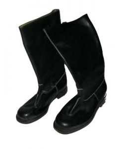 Smooth Leather Jackboots With Rubber Sole