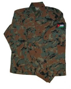 Jordanian Digital Woodland Camouflage BDU's With Flag Sleeve Patch