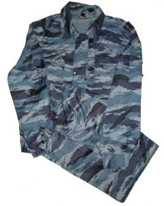 Russian Blue Tiger Stripe Camouflage Uniforms