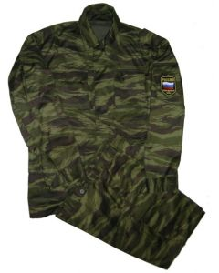 Russian Green Tiger Pattern    Camouflage 6 Pocket CamouflageField Uniforms