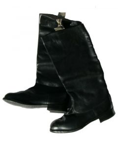 Soviet Black Leather Parade Boots