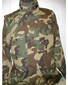 Lithuanian Woodland Pattern Camouflage Winter Jacket With Removable lining, 2 Upper Pockets, 2 Lower Pockets, 2 Sleeve Pockets, Drawstring Waist