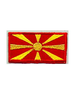 Embroidered Macedonian Flag Sleeve Patch