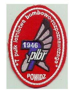 Polish Air Force Embroidered Sleeve Patch For The 7th Air Bombing-Recon Regiment