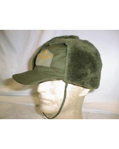 Swedish Air Force Green Winter Hats With Ear Flaps