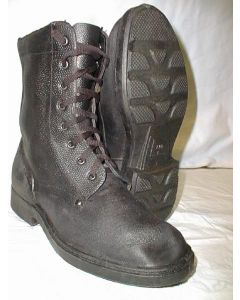 Russian Para Black Leather Combat BootsLace Up