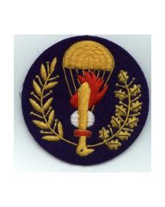 Italian Enlisted Ranks Parachute Qualification Badge On Blue