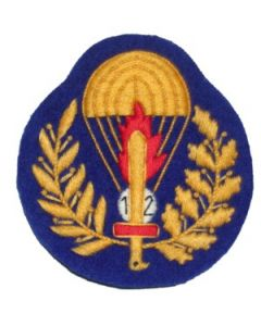 Italian Enlisted Ranks Parachute Qualification Badge For 12 Jumps On Blue