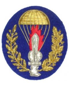 Italian Officer Ranks Parachute Qualification Badge On Blue