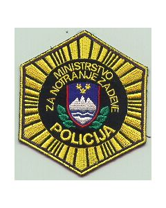 An Interesting 6-Sided POLICE SLEEVE PATCH Of The Small Republic Of Slovenia