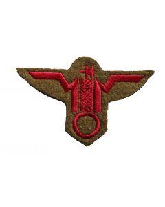 Italian WW2 MVSN Red Cap eagle on Tan