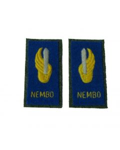 Italian WW2 Enlisted ranks NEMBO Regiment parachute Collar Tabs