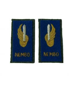 Italian WW2 Officer ranks NEMBO Regiment parachute Collar Tabs