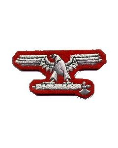 RSE220.Italian Waffen SS officer sleeve eagle.Aluminum wire on red.