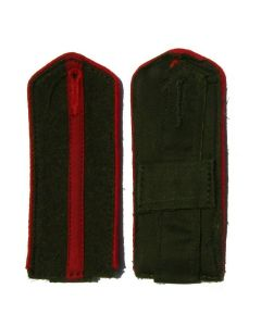 Cossack , Russian and Ukrainian Armies of Liberation junior officer shoulder boards with red piping and red center stripe on Green