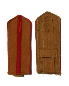 Cossack , Russian and Ukrainian Armies of Liberation junior officer shoulder boards with red piping and red center stripe on Tan