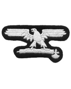RSE184.Italian Waffen SS EM sleeve eagles.White on Black.