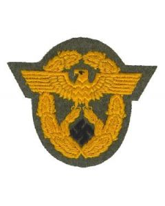 RSE366.Feldgendarmerie enlisted ranks orange sleeve eagles.