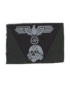 RSE444.Waffen SS woven M43 cap insignia.