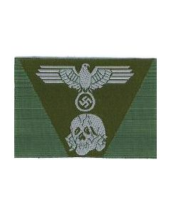 RSE445.Waffen SS woven M43 cap insignia.