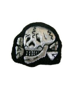 RSE598.Waffen SS officer embroidered aluminum cap skull.