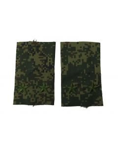 Russian Digital Camouflage Shoulder Slides for Rank of Lt Colonel