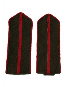 Soviet Artillery and Tank troops junior officer shoulder boards with red piping and red center stripe