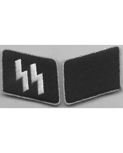 RSE30.Waffen SS officer collar tabs.